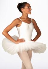 Alegra Basic Camisole Tutu White back. [White]