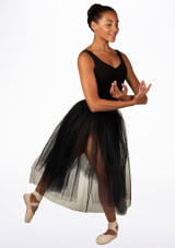 Alegra Basic Romantic Ballet Tutu Black. [Black]