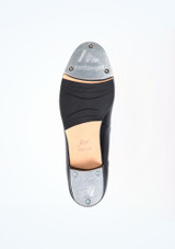 Move Tie Front Tap Shoe Black #3. [Black]