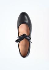 Move Tie Front Tap Shoe Black #2. [Black]