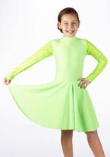 Move Girl's Kristin Latin Dress Green. [Green]