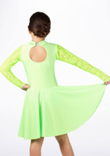 Move Girl's Kristin Latin Dress Green #2. [Green]
