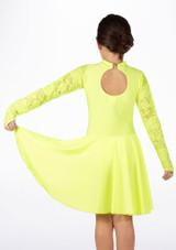 Move Girl's Kristin Latin Dress Yellow #2. [Yellow]