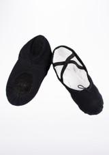 Move Split Sole Canvas Ballet Shoe Black #2. [Black]