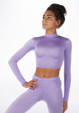 Alegra Shiny Raya Top Purple front. [Purple]