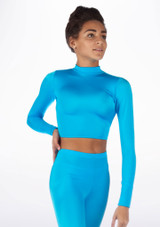 Alegra Shiny Raya Top Blue front #2. [Blue]