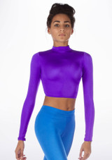 Alegra Shiny Raya Top Purple front #2. [Purple]