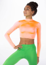 Alegra Shiny Raya Top Orange front. [Orange]