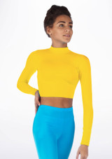 Alegra Shiny Raya Top Yellow front. [Yellow]
