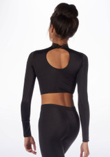 Alegra Shiny Raya Top Black back. [Black]