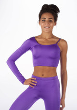 Alegra Shiny Echo Top Purple front. [Purple]