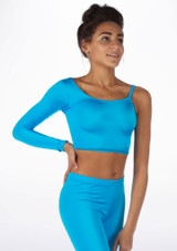Alegra Shiny Echo Top Blue front. [Blue]