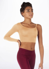 Alegra Shiny Echo Top Tan front.
