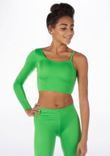Alegra Shiny Echo Top Green front. [Green]
