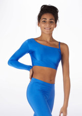 Alegra Shiny Echo Top Blue front #2. [Blue]