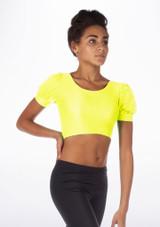 Alegra Shiny Patsy Top Yellow front #2.