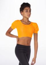 Alegra Shiny Patsy Top Orange front.