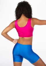 Alegra Shiny Betty Crop Top Pink back. [Pink]