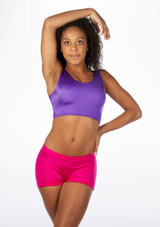Alegra Shiny Betty Crop Top Purple front #2. [Purple]