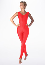 Alegra Shiny Deanna Catsuit Red back. [Red]