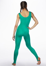Alegra Shiny Deanna Catsuit Green front. [Green]