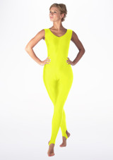 Alegra Shiny Deanna Catsuit Yellow front. [Yellow]