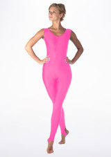 Alegra Shiny Deanna Catsuit Pink front. [Pink]