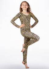 Alegra Girls Patterned Blaine Catsuit front. [Patterned]