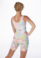 Alegra Patterned Cycle Unitard back #2. [Patterned]