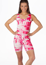 Alegra Patterned Cycle Unitard front. [Patterned]