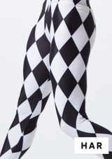 Alegra Girls Patterned Footless Legging colour swatch #6. [Patterned]