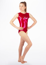 Alegra Girls Stars Sleeveless Leotard Pink front #2. [Pink]