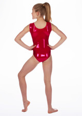 Alegra Girls Stars Sleeveless Leotard Pink back. [Pink]