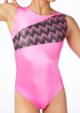 Alegra Girls Cascade Sleeveless Leotard Pink #3. [Pink]