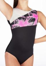Alegra Girls Spark Sleeveless Leotard Pink #3. [Pink]