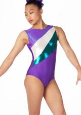 Alegra Girls Supernova Sleeveless Gymnastics Leotard Purple. [Purple]