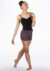 Move Abela Rolltop Shorts Grey front. [Grey]