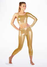 Alegra Metallic Echo Top Gold front. [Gold]