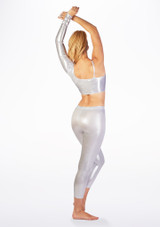 Alegra Metallic Echo Top Silver back. [Silver]