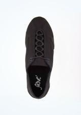 Move Premium Sneaker Style Split Sole Jazz Shoe Black top. [Black]