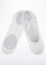 Move Men's Split Sole Canvas Ballet Shoe White #2. [White]