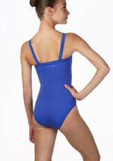 Ballet Rosa Wide Camisole Leotard Blue back. [Blue]