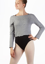 Intermezzo Teen Supersoft Ballet Sweater Grey front. [Grey]