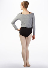 Intermezzo Teen Supersoft Ballet Sweater Grey back. [Grey]