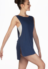 Ballet Rosa Cover-Up Tunic Top Grey front. [Grey]