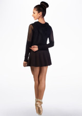 Ballet Rosa Supersoft Mesh Hoodie Black back. [Black]