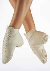 Alegra Split Sole Jazz Boot Black sole. [White]