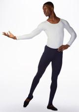 Ballet Rosa Mens Long Sleeve Dance Top White front. [White]
