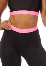 Alegra Fuse Girls Waistband Short Black-Pink front #2. [Black-Pink]