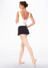 Grishko Short Pull On Ballet Skirt Black back. [Black]